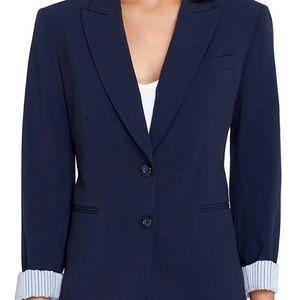 TAHARI petite navy Arthur S Levine suit jacket